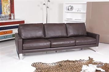 Machalke System 3er Sofa Leder Braun Ausstellungsstück Amazon