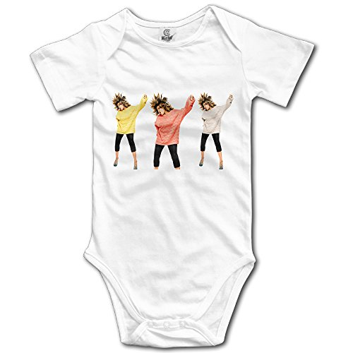 White Baby Boys' Tina Turner Roar The Queen Of Rock 'n' Roll Romper Jumpsuit]()