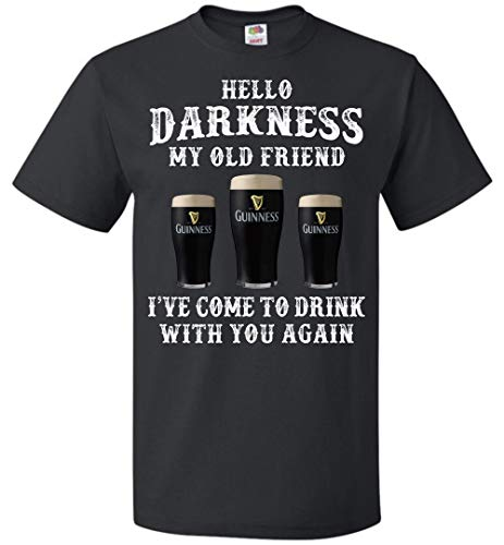 Hello Darkness My Old Friend Shamrock Beer T-Shirt Mens Womens St Patricks Day Up to 5XL Gifts -