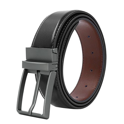 Belts for Men Genuine Leather Dress Belt Reversible with 1.3