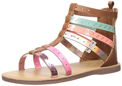 OshKosh B'Gosh Mila Girl's Embellished Gladiator Sandal, Multi, 11 M US Toddler -