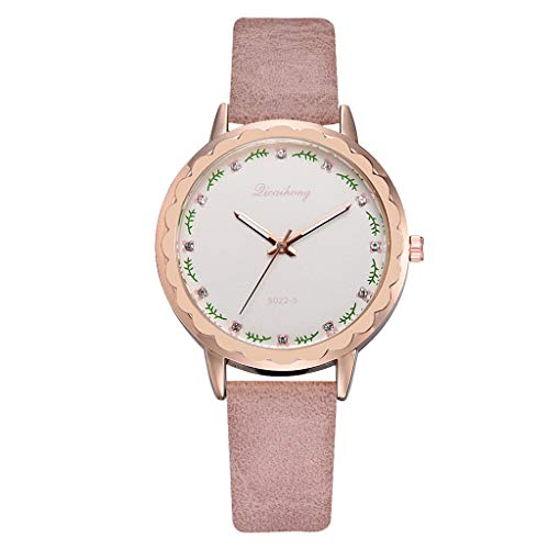 LUCAMORE Creative Simplicity Women Watch Leather Band Elegant Women Watches Ladies Fashion Casual Wristwatch