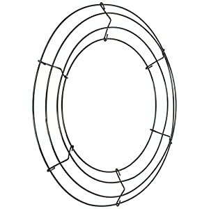 "Panacea 36003 Wire Wreath Frame 12""-Green 11"