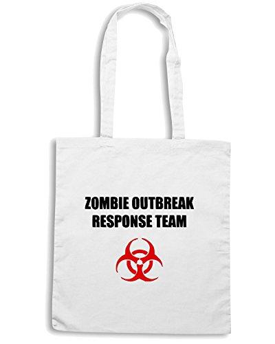 T-Shirtshock - Bolsa para la compra TZOM0016 zombie outbreak response team light Blanco