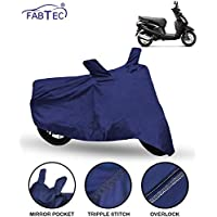 FABTEC Scooty Cover for Hero Pleasure with Storage Bag Combo (Navy Blue)