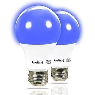 AmeriLuck Colored A19 LED Light Bulb, 60W Equivalent (7W), E26 Medium Scew Base (Pack of 2, Cobalt Blue)