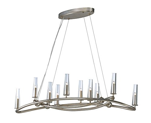 Maxim Lighting 38498CLGS Entwine - Ten Light Chandelier, Golden Silver Finish with Clear Crystal Maxim Lighting Silver Chandelier