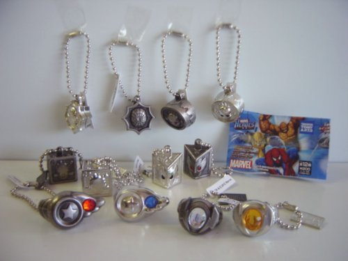 All 12 species movie Marvel MARVEL Power Charm collection: all 12 species Captain America 1 A 2 A 3 Storm (japan import)