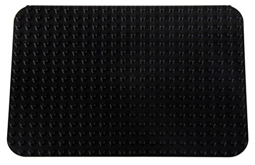 Classic Big Briks Baseplate 15 x 10.5 Large Building Brick Baseplate by Strictly Briks | 100% Compatible with All Major Brands | Large Pegs for Toddlers | Single Black Flat Bottom Base Plate