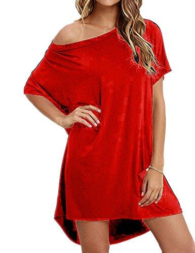 Haola Women Loose T Shirts Home Short Shirt Mini Dresses Tops S - Cotton Top Dress