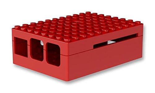 Pi-Blox Custodia per Raspberry Pi Pi 2 & Raspberry Pi Modello B   e fotocamera (Red)