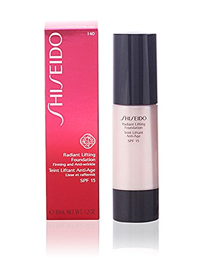 Shiseido Day Foundation - Shiseido Radiant Lifting SPF15# I40 Natural Fair Ivory Foundation for Women, 1.2 Ounce