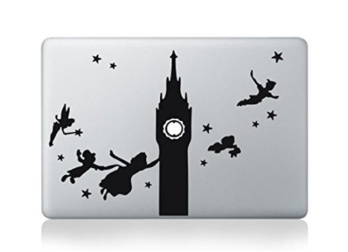 Peter Pan Tinker Bell Flying Macbook Decal Stickers OVER 30 Choices- Fit 13 15 17 BUY 2 Get 1 Free Sticker (Peter Pan Macbook Decal compare prices)