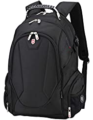 Swiss Ruigor 9508 Water Resistant Polyester Laptop Backpack With Side Pocket Fit For 15.6 Laptop And Notebook...