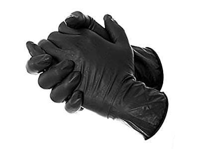 AmeriGrip Black Nitrile Tattoo & Piercing Gloves (Size: Large) - Box of 100