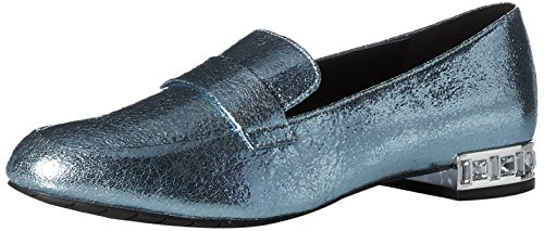 Kenneth Cole Reactie Womens Jet Achter Slip Verfraaid Hiel Loafer Flat Storm