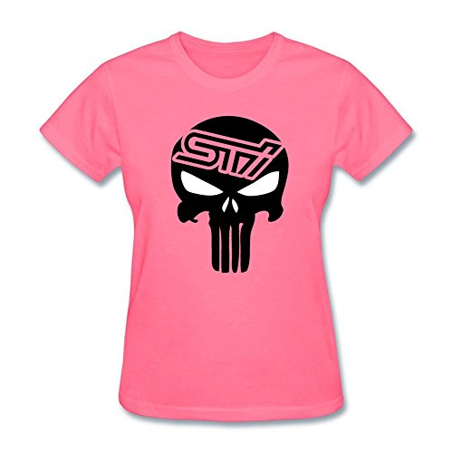 Ptshirt.com-19292-Womens Cotton Crewneck Custom The Punisher Skull STI Subaru Racing T Shirt-B01DU7A3YW-T Shirt Design