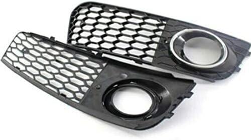 Liseng Grille de pour Phares DAntibrouillard Grill Honeycomb Projecteur Antibrouillard Lampe Ouverte Grille DA/éRation pour A4 B8 RS4 2009-2012