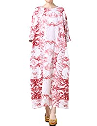 Mordenmiss Women's New Flower Printed Plus Size Travel Dresses