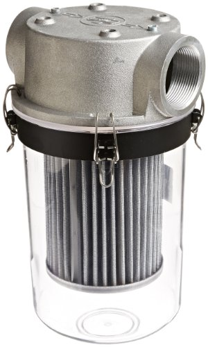Solberg ST-851/1-250C Inlet See Through T Style Filter, 2-1/2'' FPT Inlet/Outlet, 16-1/4'' Height, 9'' Diameter, 210 SCFM by Solberg