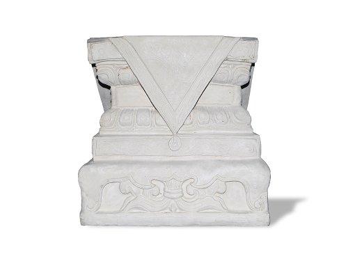 (Amedeo Design ResinStone 2000-36L Foo Dog Base, 31 by 31 by 25-Inch, Limestone)