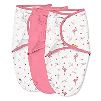 SwaddleMe Authentic Swaddle – Dimension Small/Medium, 0-3 Months, 3-Pack (Flamingo Fiesta)