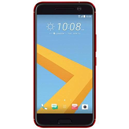 HTC 10 32GB ROM 4GB RAM 5.2-Inch 12MP 4G LTE Factory Unlocked International Stock No Warranty (RED) by HTC