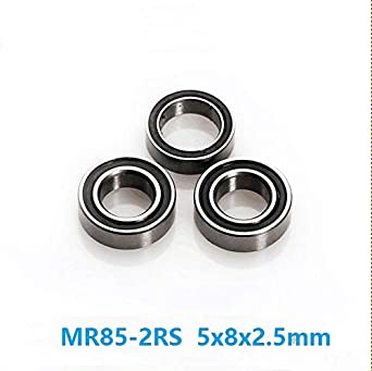 Metal Rubber Sealed Ball Bearing Bearings MR85RS 5x8x2.5 mm 50 PCS MR85-2RS