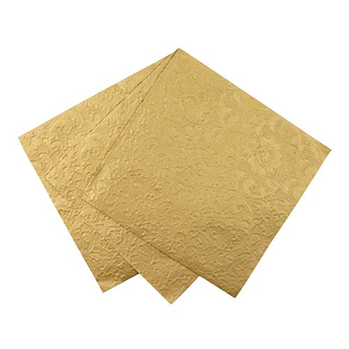 Talking Tables Gold Party Decorations | Gold Napkins | Posh Party Napkins | Great For Wedding, Bridal Shower, Christmas And Birthday Decorations | Paper, 20 ()