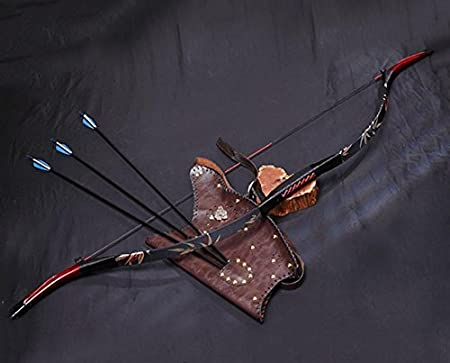 30-50lb Archery Hunting Recurve Bow Chinese Mongolian Horsebow Longbow Target