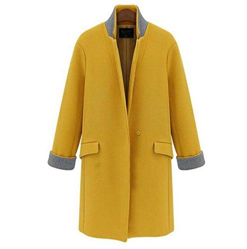 FINEJO-Vintage-WOMEN-Winter-Warm-Blue-Yellow-Long-Jacket-Coat-Trench-Parka-Outwear
