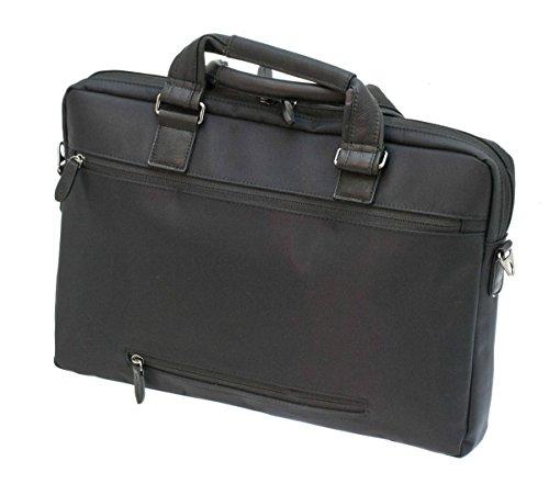 Davidts Berckely Echt Leder Aktentasche Laptoptasche Business Bag Umhängetasche Arbeitstasche Schwarz 452 072 Bowatex