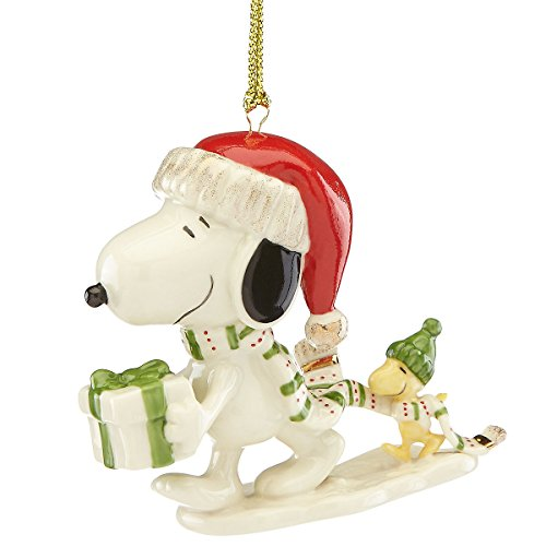 Lenox Snoopy's Holiday Gift Christmas Ornament