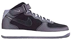 Nike Women's Air Force 1 07 Mid Black/Cool Grey High-Top Synthetic Fashion Sneaker - 8M