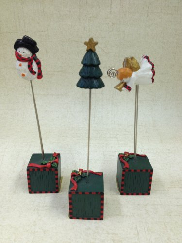 Christmas Photo Stands (Set of 3) by Connoisseur