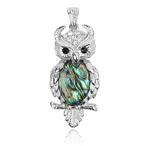 Shaped Natural - Wholesale 3 PCS Owl Shaped Charm Natural Abalone Shell Pendant with Silver Tone Pattern Bulk Charm for Jewelry Making