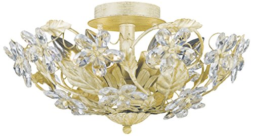 Crystorama 5316-CM Leaf, Flower, Fruit Six Light Ceiling Mounts from Abbie collection in Gold, Champ, Gld Leaffinish,