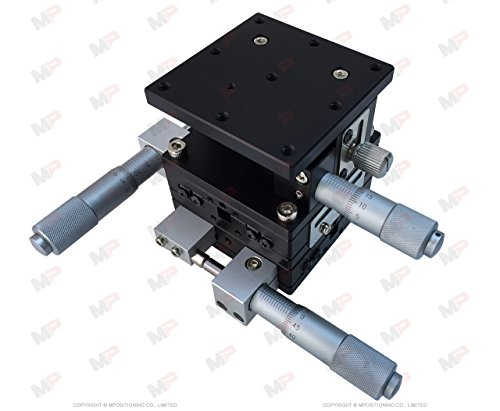 MPositioning T60XYZ-25L10A Precision XYZ 3 Axis Linear Positioning Stage 25 mm Travel in XY and 10 mm Travel in Z