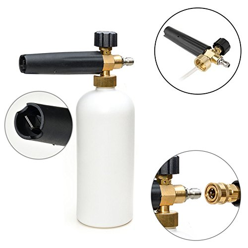 "Foam Baster Foam Cannon Car Wash for Pressure Washer Garden Lawn Foam Gun Car Wash 1L with 1/4"" Quick Adapter"