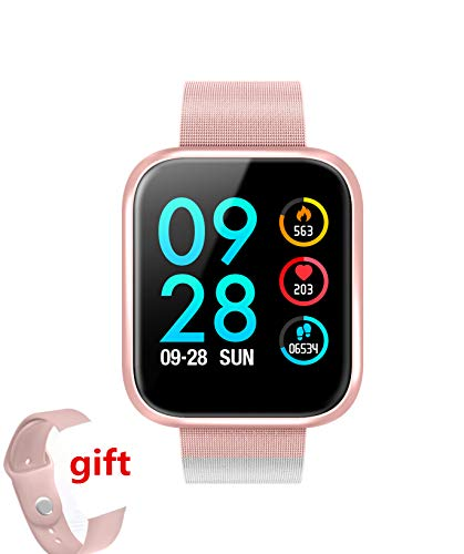 Kooman Fitness Tracker with Heart Rate Monitor,Fitness Watch Activity Tracker, IP68 Waterproof Sleep Monitor,Calories,Sleep Monitor,Alarm Clock,Call SMS Notice for Men Women Kids (Pink)