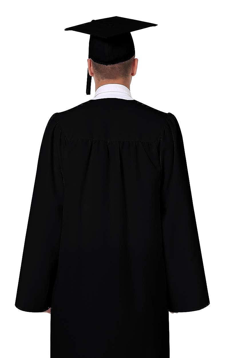 Amazon.com: GraduationMall Matte Graduation Gown Cap Tassel Set 2018 ...