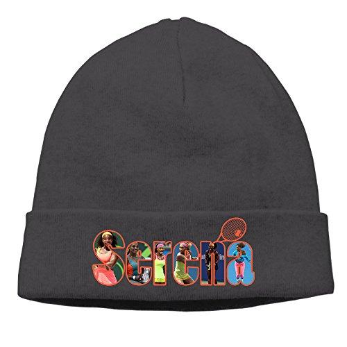 ElishaJ Unisex Serena Tennis Williams Beanie Cap Hat Ski Hat Cap Skull Cap Black