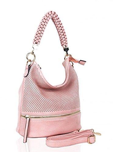 LeahWard® Damen Klein Größe Mode Modisch Berühmtheit Qualität Schulter Hobo-Taschen Damen Essener Schnell verkaufend Kreuzkörper Handtasche CWRF150331 CWRX150906 CWRQ151034 CWRX140932-T 150906-Rosa YlcoAu
