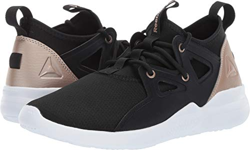 Reebok Women's Cardio Motion Dance Shoe Black/Rose Gold/White 11 M US