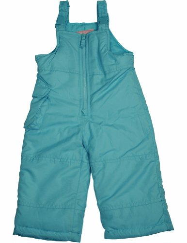 London Fog - Baby Girls Bib Snowpant, Turquoise 33952-12Months