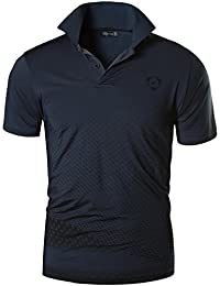 jeansian Men's Sport Outdoor Quick Dry Short Sleeves Polo Tee T-Shirt Tops LSL195