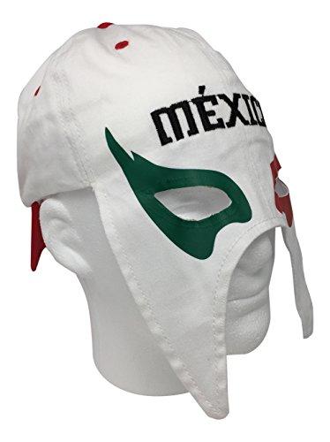 Mexico Gorra Mascara de Futbol. Mexico Soccer hat. Mexican Lucha Libre Mask Cap (Mexico Mask)