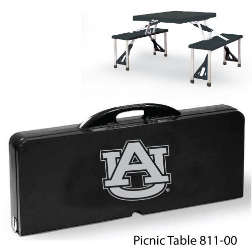 DDI 1481630 Auburn University Picnic Table Case Of 2