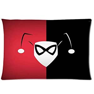 Home Decor Pillowcases Harley Quinn 20X30 Inch Two Sides Zippered Soft Cotton Pillow Covers