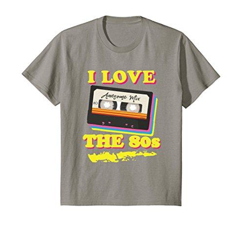 Kids Funny 1980s Mix Tape Costume Halloween Party Theme T-shirt 12 (Halloween Mixtape)